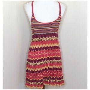 Free People Multicolored Chevron Tank Mini Dress S